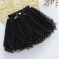 Children skirts summer new golden edge bright beads bow  tut skirt  girls skirts 5-10 YEAR