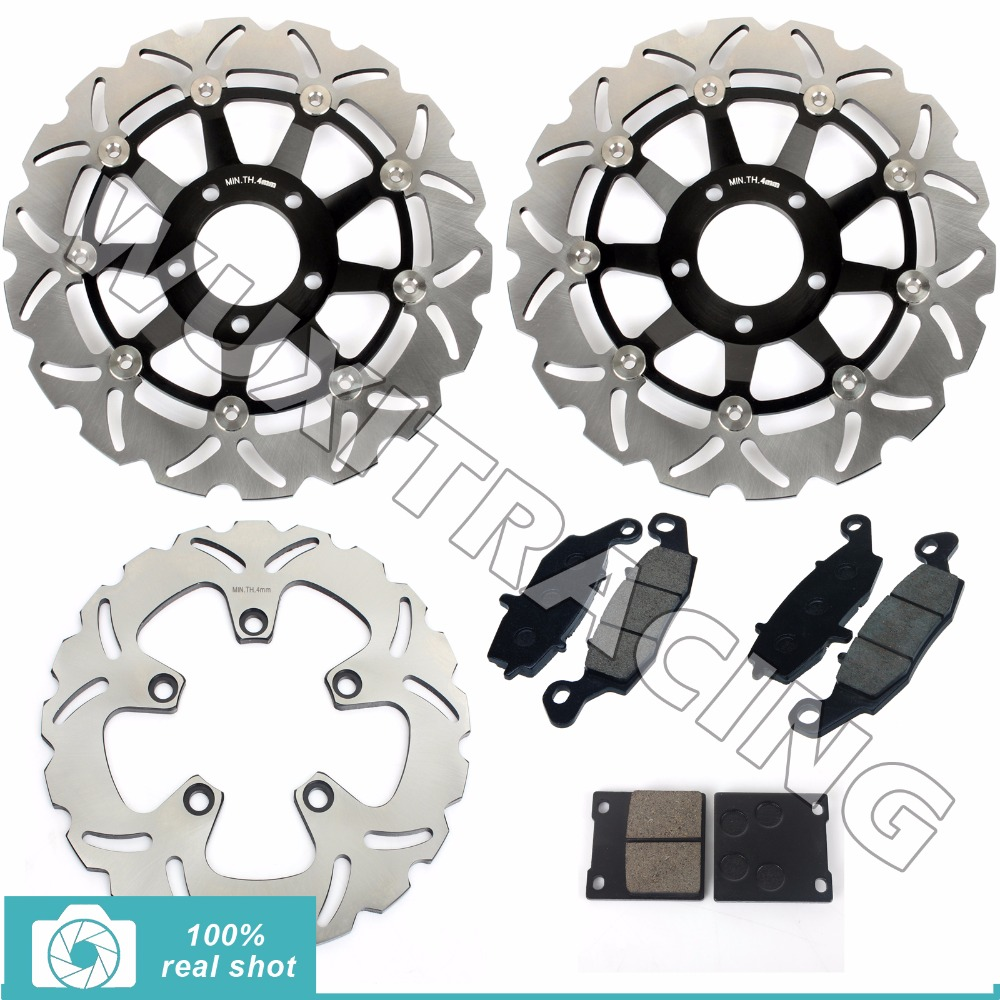 Full Set Front Rear Brake Discs Rotors Pads for SUZUKI GSF 600 GSF600 Bandit 00-04 01 03 SV650 SV 650 99-02 GSX 750 GSX750 98-02 full set front rear brake discs rotors for honda nx dominator 650 88 89 90 91 92 1988 1989 1990 1991 1992 xr l 650 93 12