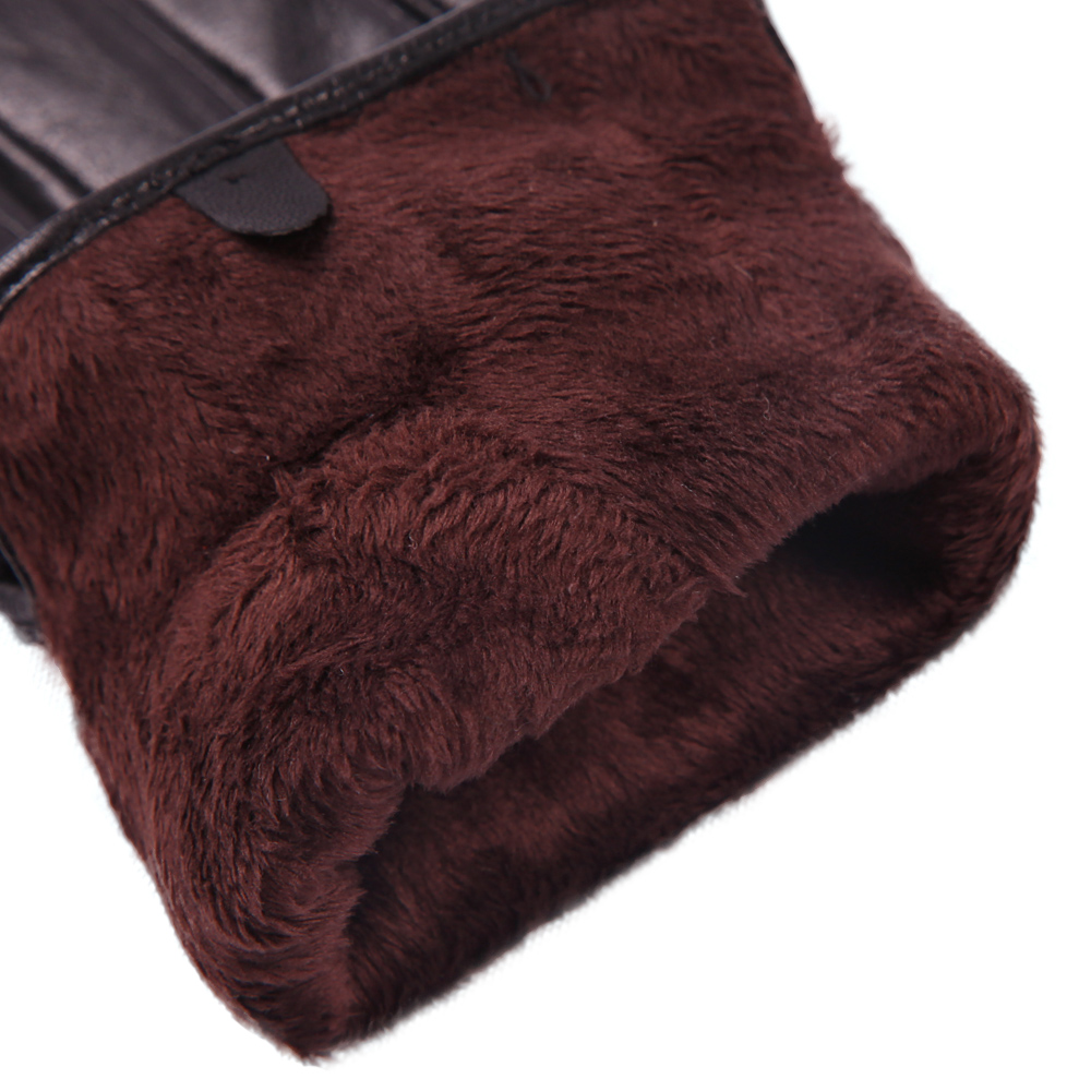 Touchscreen Keep Warm Leather Gloves Male Winter Plus Velvet Windproof Driving Non Slip Genuine Leather Man Gloves M18003NC 9 in Men 39 s Gloves from Apparel Accessories