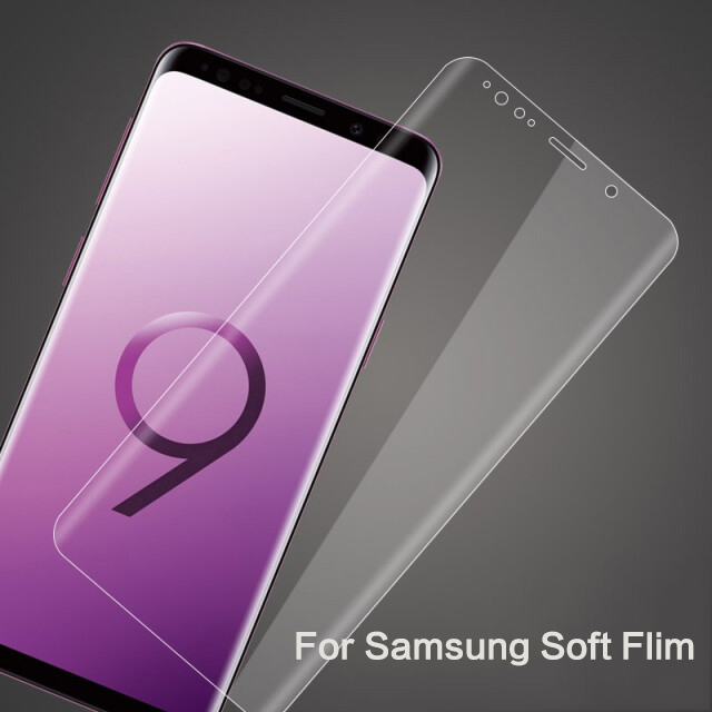 Full Cover Soft Film For Samsung S10 S8 S9 Plus Note8 9 Screen Protector For Galaxy S10Lite S9 S8 S7 S6Edge Flim Front Not Glass in Phone Screen Protectors from Cellphones Telecommunications