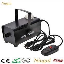Mini 400 w controle de fio máquina de névoa/bomba dj disco 400 w máquina de fumaça para festa em casa casamento/estágio fogger/estágio fumaça ejetor
