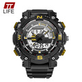 Top Brand TTLIFE New Fashion Casual LED Analog Digital Watch Men Outdoor Sport Waterproof Quartz Watches Mens Dual Display Clock