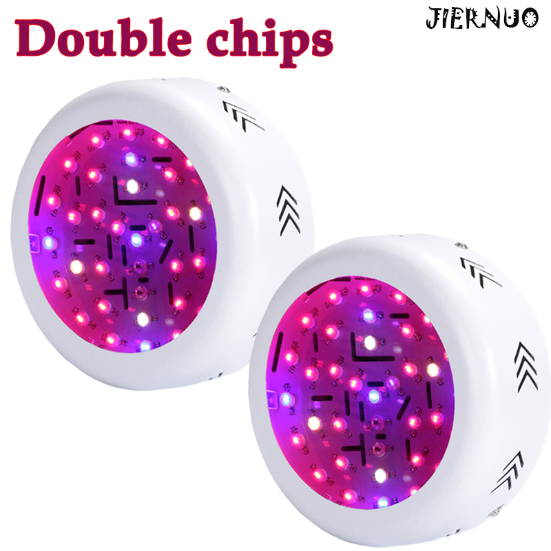ФОТО 2PCS 360W Double Chips UFO LED Grow Light Fitolampa Full Spectrum 410-730nm Plant Light For Indoor Plants Flowering And Growing