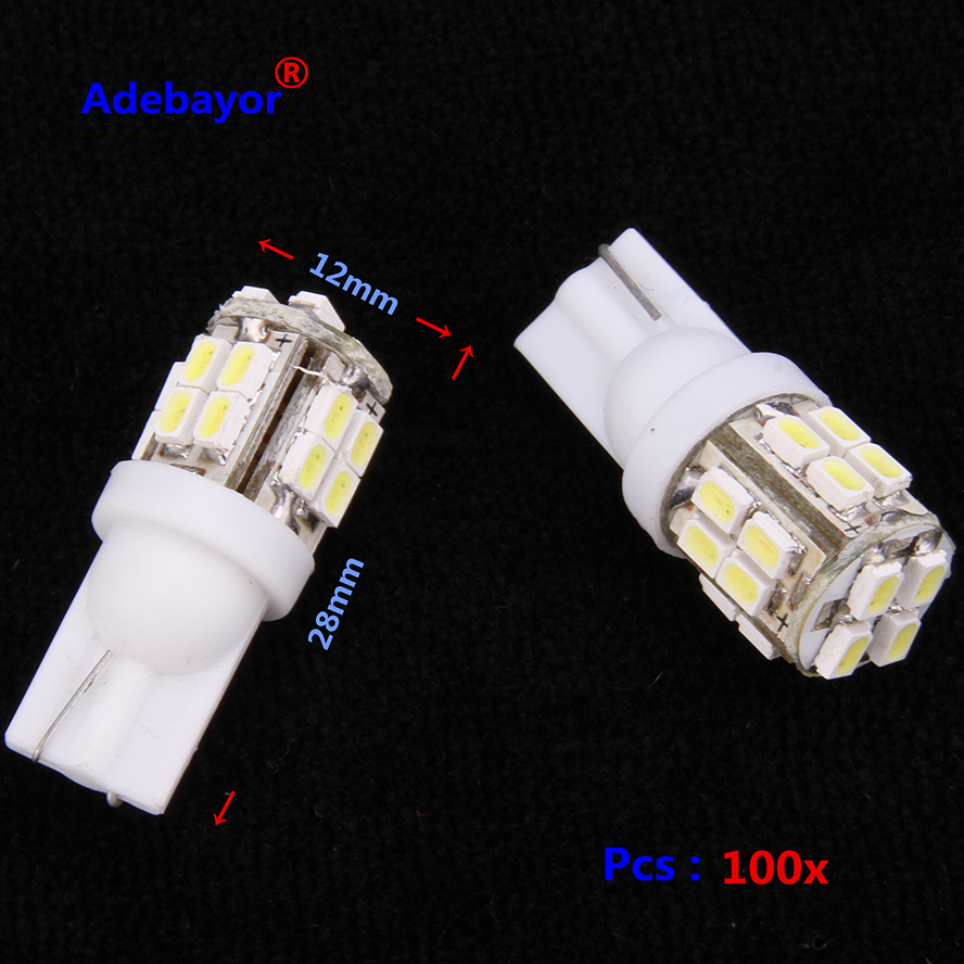 <font><b>100X</b></font> <font><b>T10</b></font> W5W 501 1206 20SMD LED Inverted Side Wedge car lamp bulbs door Interior Map clearance lights white high power 2W image