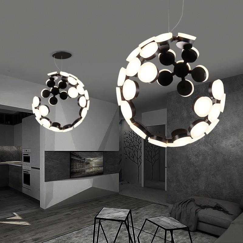 Modern Led Pendant Light Irregular Hollow Shape Hanging Lamps Living Room Kitchen Designer Suspension Luminaire стоимость