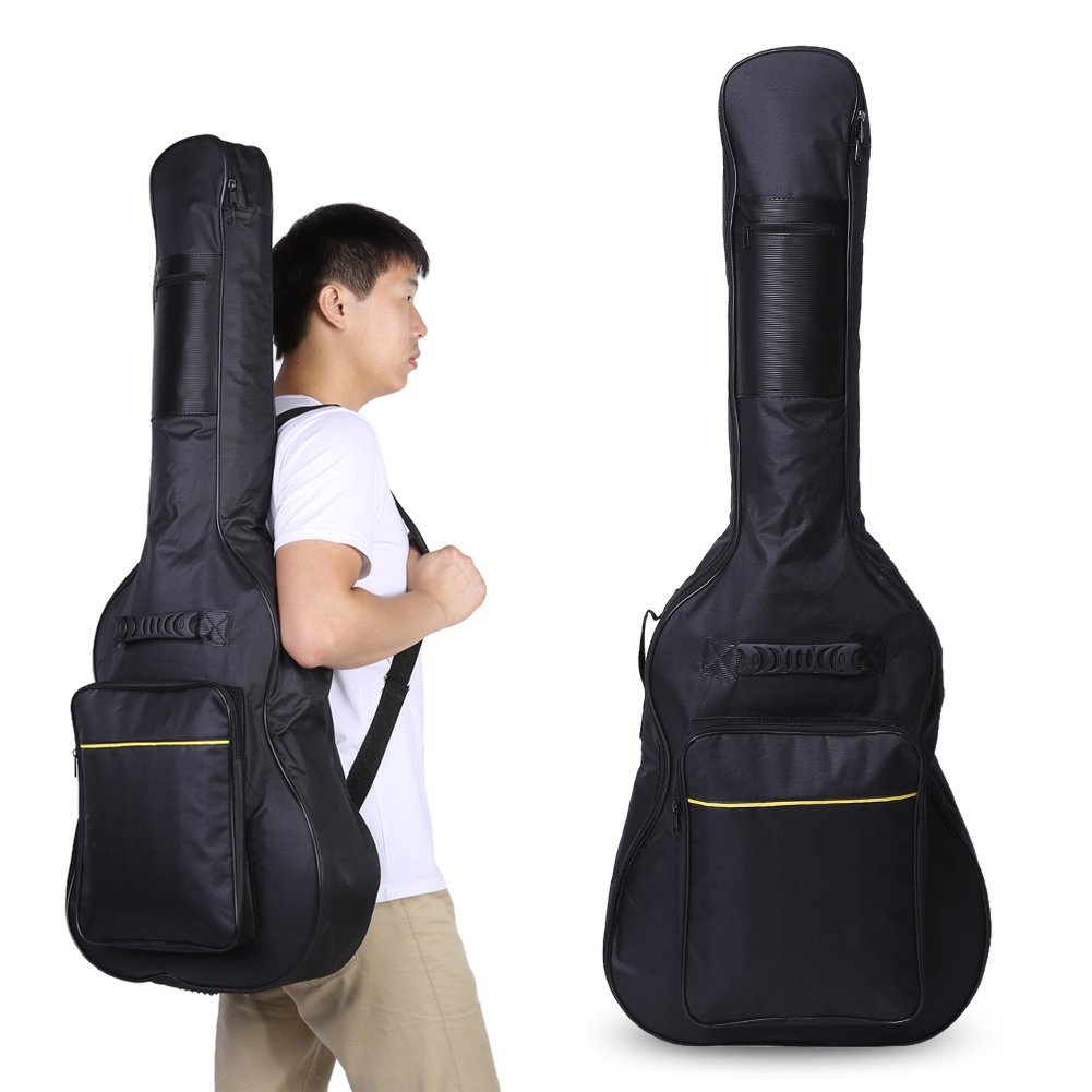 1Pcs Guitar Bag Padded Protective Case Adjustable Shoulder Straps Classical Acoustic Guitar Carry Bags Balck new light high quality 39 carbon fiber guitar case hard case classical guitar case acoustic guitar case customer made accepted