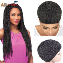 Super Elastic Cornrow Cap For Weave Crochet Braid Wig Caps For Making Wigs Top Quality Weaving Braid Cap Wig Net Black Color 1PC