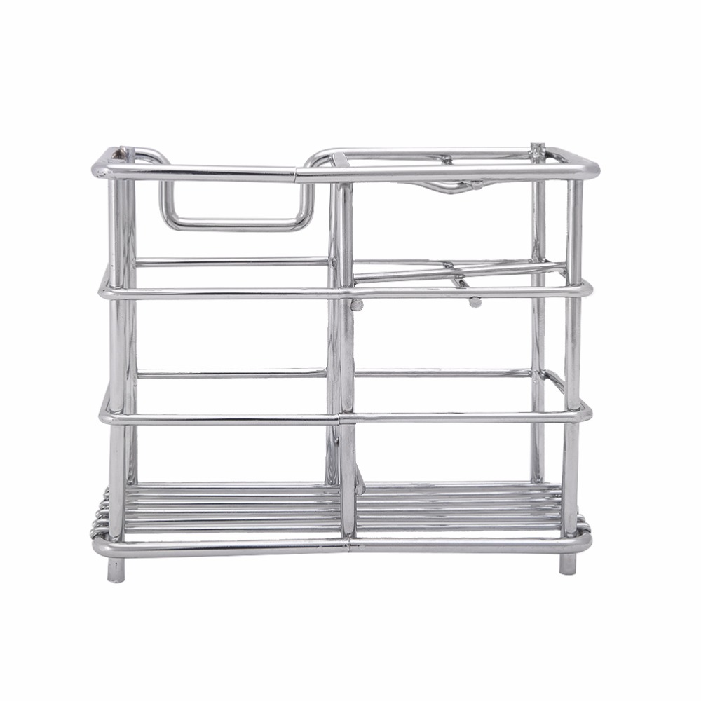 Stainless Steel Bathroom Storage Rack Toothbrush Toothpaste Holder ...