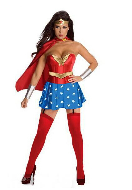 Free Shipping 2015 Hot Selling Adult Sexy Plus Size Wonder Woman