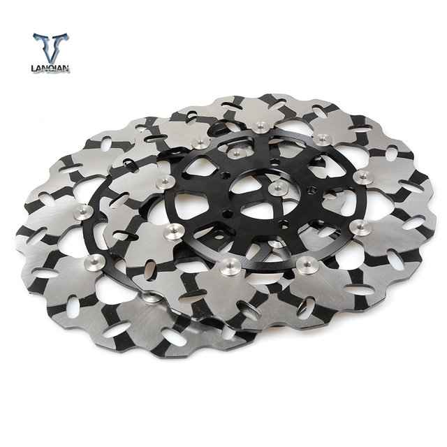 High Quality 2PCS CNC Motorcycle Front Floating Brake Disc Rotor For SUZUKI GSXR1300  gsxr 1300 1999 2007