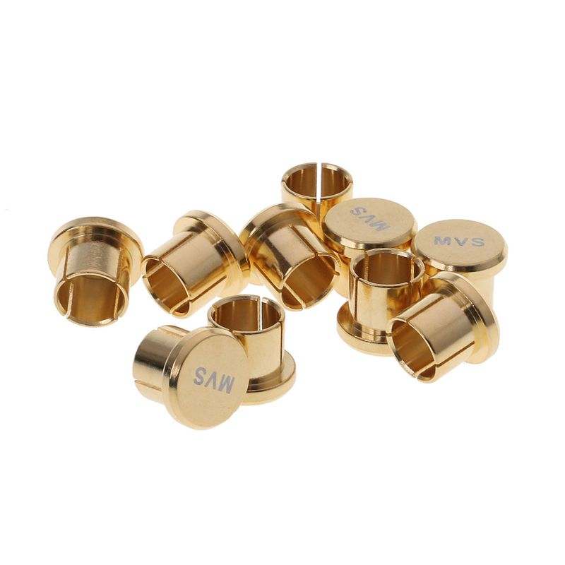 Plug & Connectors Collection Here 8pcs Gold Plated Short Circuit Socket Phono Connector Rca Shielding Jack Socket Protect Cover Caps
