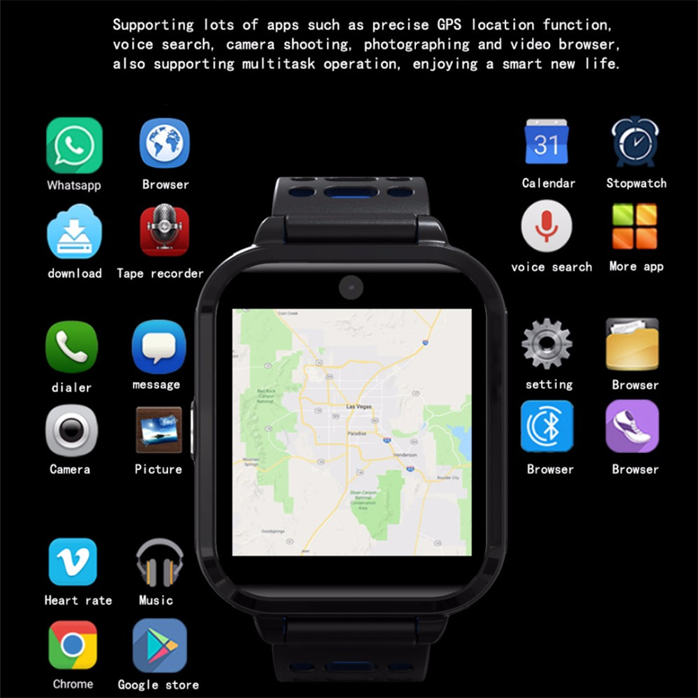 OGEDA 2019 NOVOS Homens Relógio Do Esporte GPS Bluetooth Inteligente LEVOU M1 4g rede WIFI camera 1 gb/8 gb IP67 moda multi-função à prova d' água