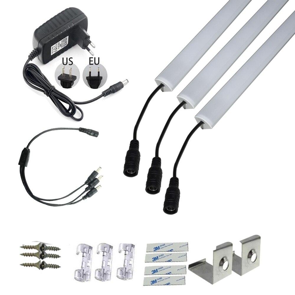 3pcs 8520 led strip 3A adapter U/V/YW Style 8520 Korea rigid strip LED Bar Lights Aluminum Channel for LED Strip Light