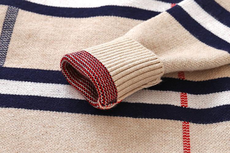 HTB15m4daiHrK1Rjy0Flq6AsaFXax - 2018 Autumn Boys Sweater Plaid Children Knitwear Boys Cotton Pullover Dual Collar Sweater Kids Fashion Outerwear Toddler