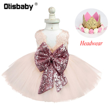 Official Store Girl Baby Clothing Voile Tutu Christening Birthday Party Dresses Infant Dress Christmas Newborn Photography Props