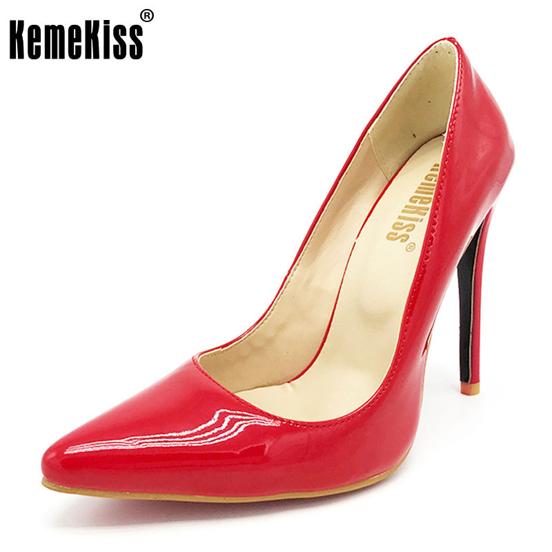 KemeKiss big size 34 46 brand ladies 12cm thin high heel shoes women quality party pumps
