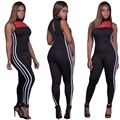 2017 Bodycon Bodysuit Women's Fitness Jumpsuits Casual Bandage Overalls Sleeveless Backless Sexy Jumpsuit Combinaison Femme