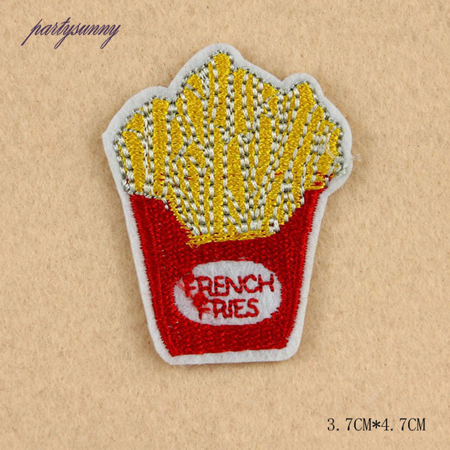 Iron On Food Embroidery Patches