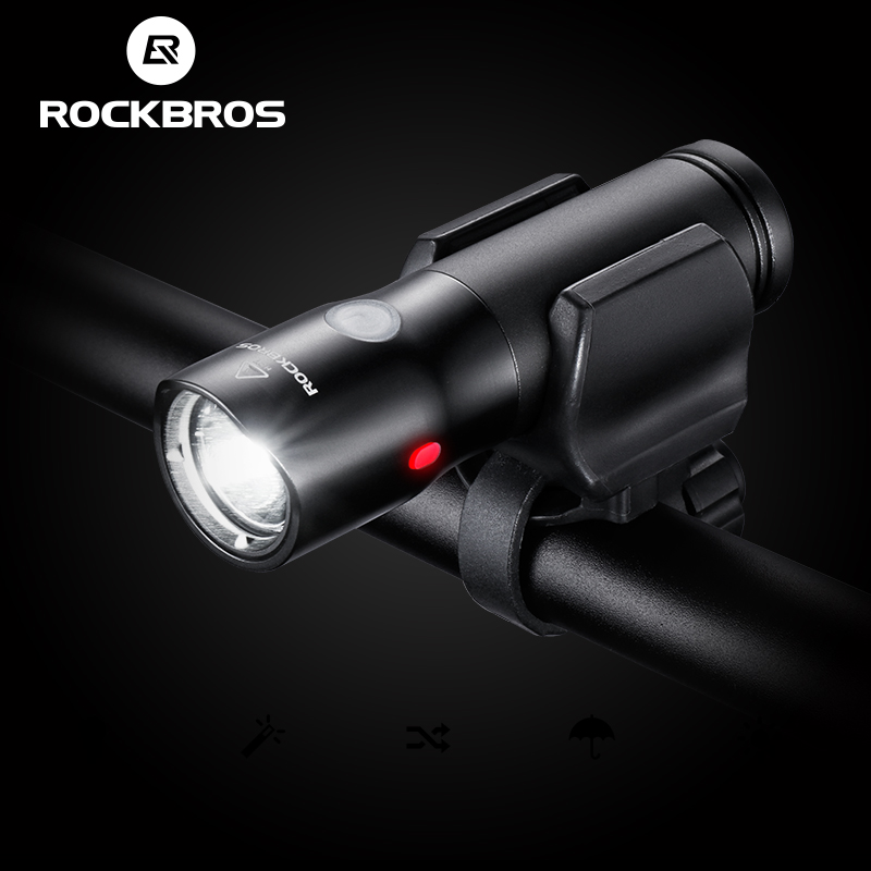 ROCKBROS USB Rechargeable Waterproof Bicycle Light Multi-function Flashlight
