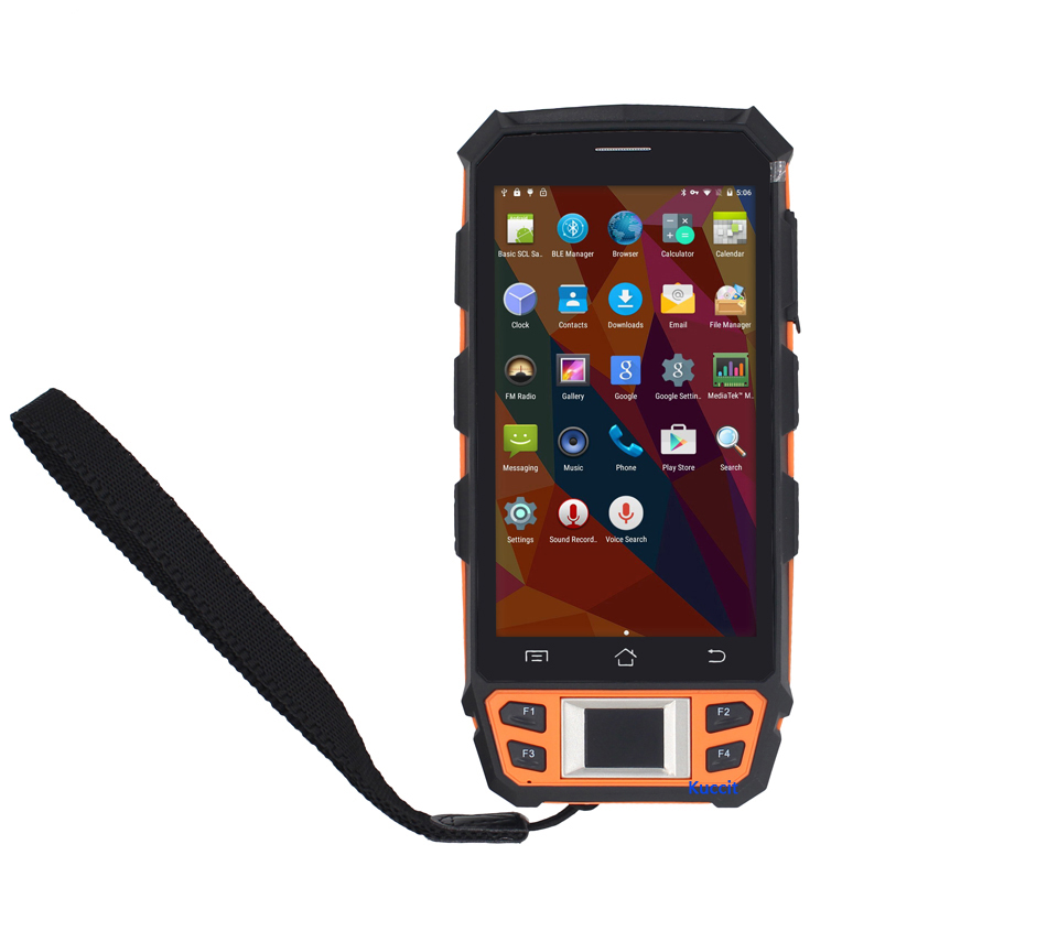 Original UHF RFID HF LF Fingerprint Reader Android Barcode Scanner WIFI Handheld Terminal Data Collector Waterproof Phone GPS-in Cellphones from Cellphones & Telecommunications