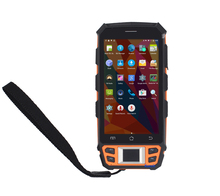 מקורי UHF RFID HF LF קורא טביעות אצבע אנדרואיד ברקוד סורק WIFI כף יד מסוף נתונים אספן עמיד למים טלפון GPS