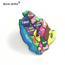Maps of Saudi Arabia  Soft Rubber Tourism Souvenir Fridge Magnet promotion gifts custom available