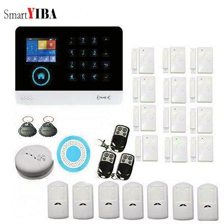 SmartYIBA Smartphone App télécommande Wifi système d'alarme de sécurité GSM 2G SIM carte cambrioleur alarme Kits pour la maison de sécurité