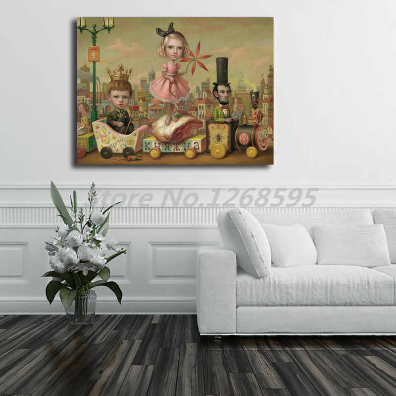 Daging Kereta dengan Mark Ryden Kanvas Lukisan Cetak Kamar Tidur Dekorasi Rumah Modern Dinding Seni Lukisan Cat Minyak Poster Salon Gambar karya Seni