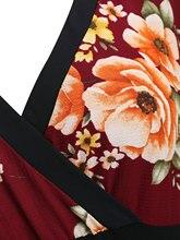 Women's Elegant Plus Size Floral Bodycon Dress