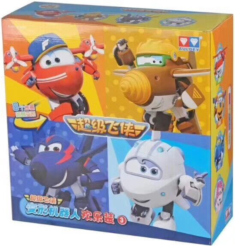 4pcs/lot New Arrival Big Size 15CM Super Wings Toys Season3 Transformation robot Action Figures Toys For Christmas gift