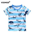 VIDMID Children T-shirt boys t shirtTees Short sleeve shirts Summer Kids Tops Cartoon Baby Boy Clothing Cotton fireman
