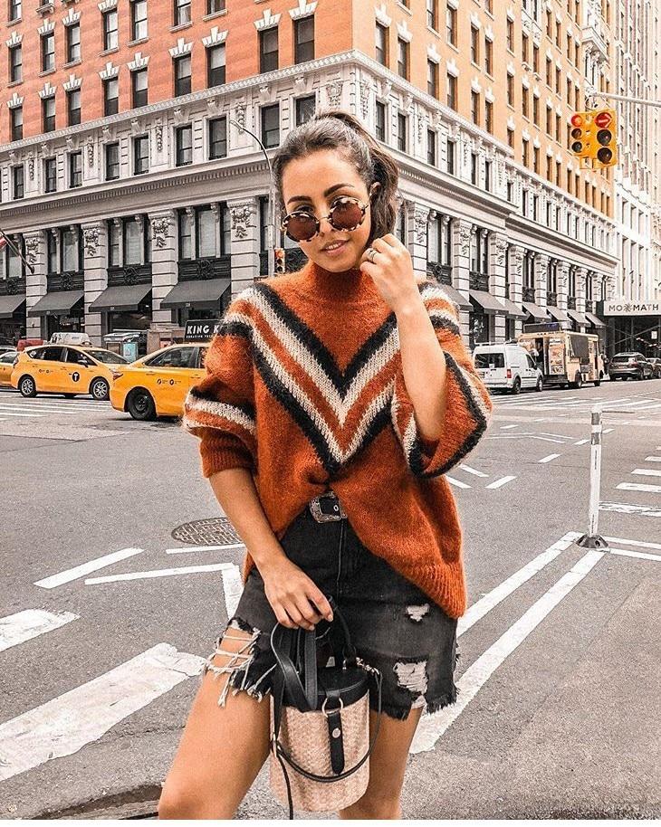 Chandail Femmes Chaud As 2018 Knit Haut Picture Col Wear Pull Nouveau Mohair Show qCzzHwfA