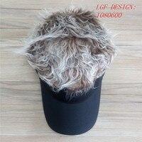 USA Autumn Fashion Party Fans Black Flair Hair Visor Golf Baseball Caps FAKE Hari HatS