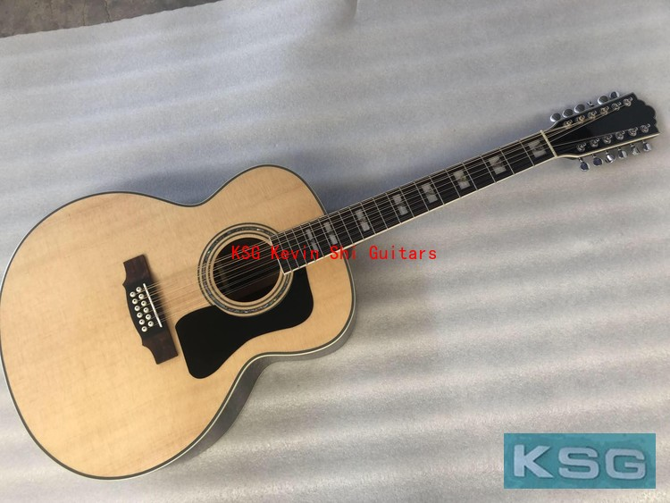 43 12 string solid top guild acoustic guitar jumbo 12 strings acoustic electric guitar F512 electrical