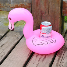 12 Pieces / Pack ! Inflatable flamingo drink floats Donut Cup Holder Pool Party watermelon