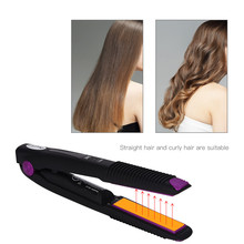 CkeyiN USB Rechargeable Hair Straightener Curler 2
