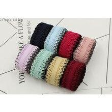 25mm 2.5cm Laciness elastic ribbon DIY bowknot accessories Satin ribbons handmade riband tape 6y/lot