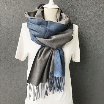 2017 new winter men scarf hot solid double-side soft cashmere scarves shawls and wraps bandana female foulard Tassel