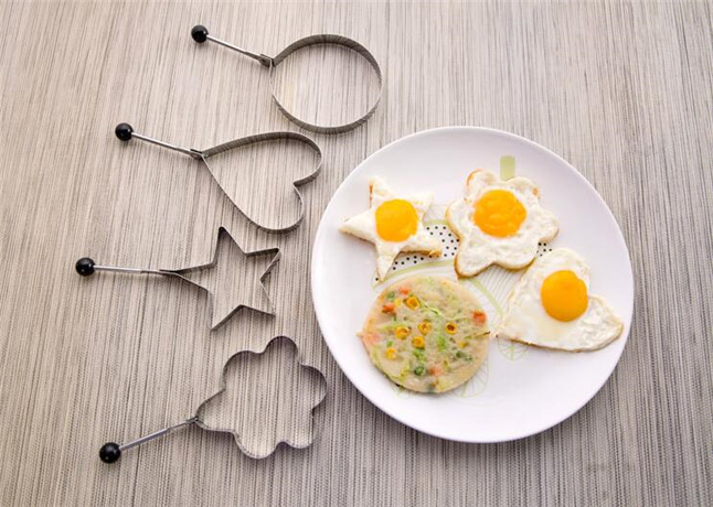 4pcs Bid Shaped Stainless Steel Cooking Fried Egg Pancake Ring Mold Kitchen Tool