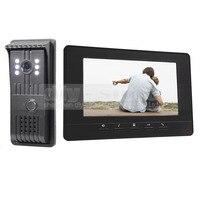 7inch Video Door Phone Doorbell Video Intercom Metal Shell Camera LED Night Vision 1 Monitor Black