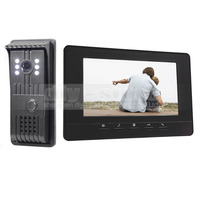 7inch Video Door Phone Doorbell Video Intercom Metal Shell Camera LED Night Vision 1 Monitor Black