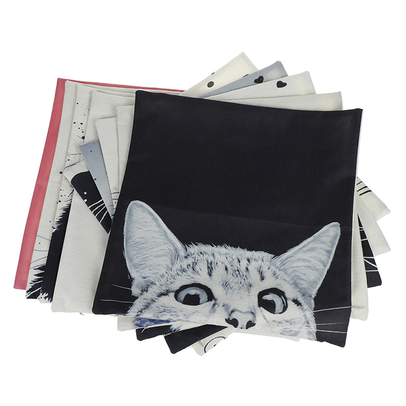 HTB15m6QOmzqK1RjSZFHq6z3CpXac Vintage white and black Cat Dog Cotton cute Pillow Sofa Waist Throw Cushion Home Car Decor