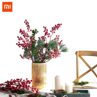 Xiaomi Yuihome 3 Branch Artificial Red Holly Berry Christmas New Year Diy Home Garden Decorations Supplies Furnishing Articles