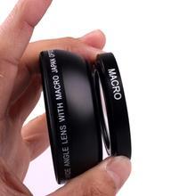 Lente de cámara gran angular negra 49mm 0.45x con lente Macro para Sony Alpha NEX 3,NEX 5,NEX 5N para Sony Alpha A3000 con lente 18 55