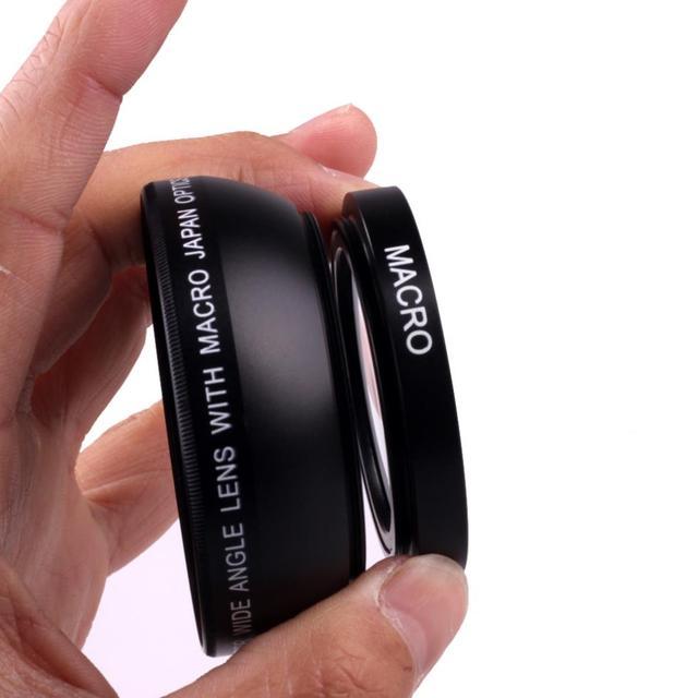 Объектив для камеры Sony Alpha, черный широкоугольный объектив 49 мм 0,45x с макро объективом для Sony Alpha, NEX 3, для Sony Alpha A3000, с объективом 18 55, для Sony Alpha A3000, с объективом 18 55