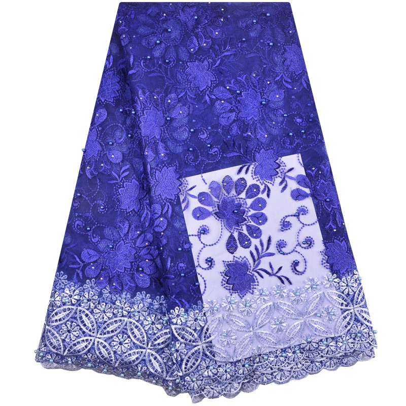 2019 French Net Lace Fabric Latest African Lace Fabric Mesh Tulle Lace Fabric High quality Nigerian