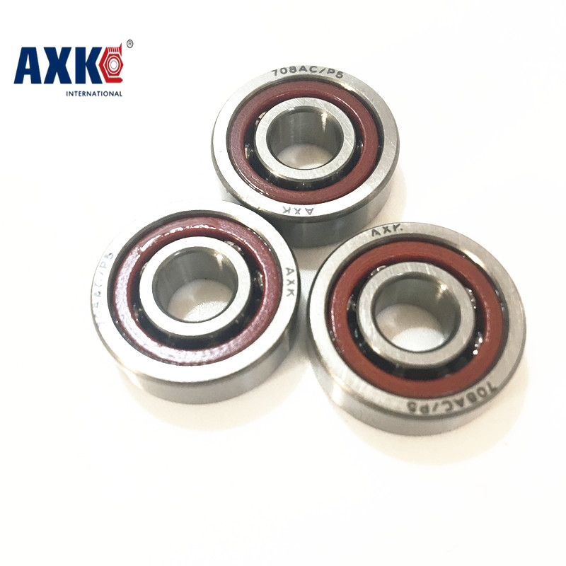 1pcs 708 708C H708 H708C-2RZ/P4 8x22x7 Sealed Angular Contact Bearings Engraving Machine Speed Spindle Bearings ABEC-7 8mm spindle angular contact ball bearings 708c 2rs p4 super precision bearing abec 7 708 double sealed rubber seals rs rs1 2rs1