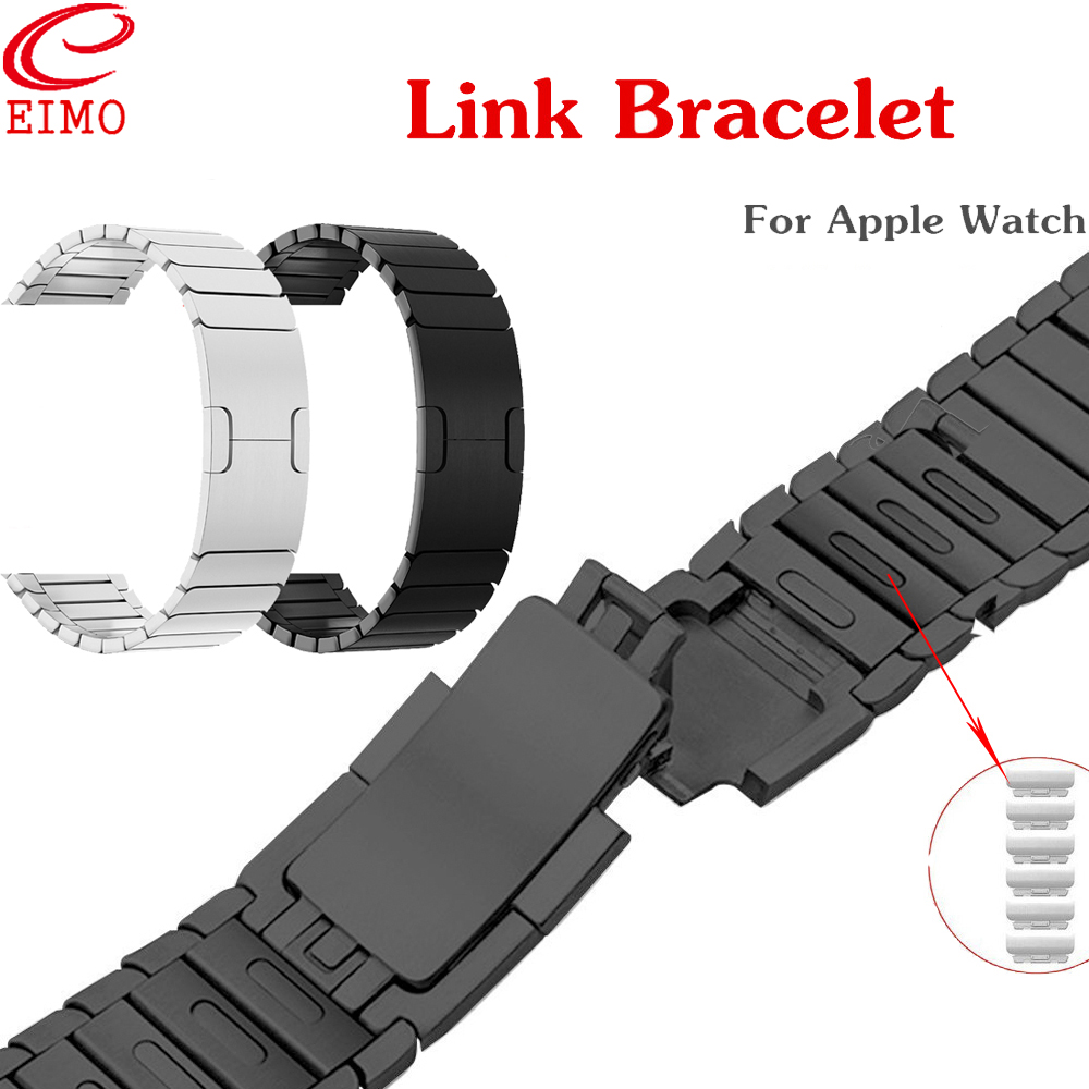 EIMO Link Bracelet for Apple Watch 4 3 iwatch band 42mm 44mm 38mm 40mm Stainless Steel gen.6 Wristband Watchband Series 4 3 2 1