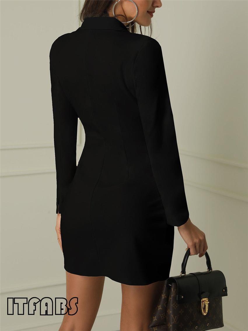 Women business Sexy Casual outwear women slim Button business dress women 9