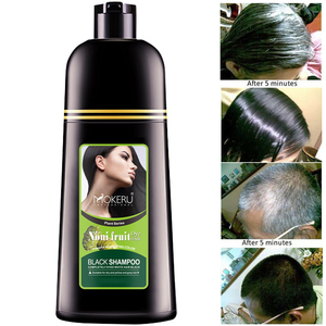 Image 3 - Mokeru Organic Natural Fast Hair Dye Only 5 Minutes Noni Plant Essence Black Hair Color Dye Shampoo For Cover Gray White Hair